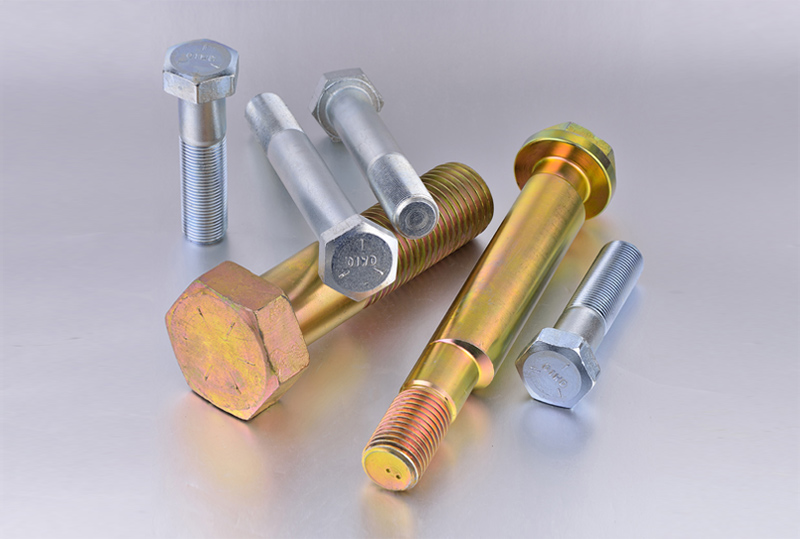 Hex head zinc bolts
